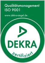 Dekra-Siegel Qualitätsmanagement ISO 9001